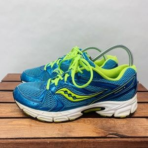 Saucony Cohesion Sneakers Womens 9.5 Blue Yellow